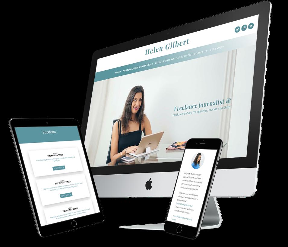 journalist website design Rock Candy Design