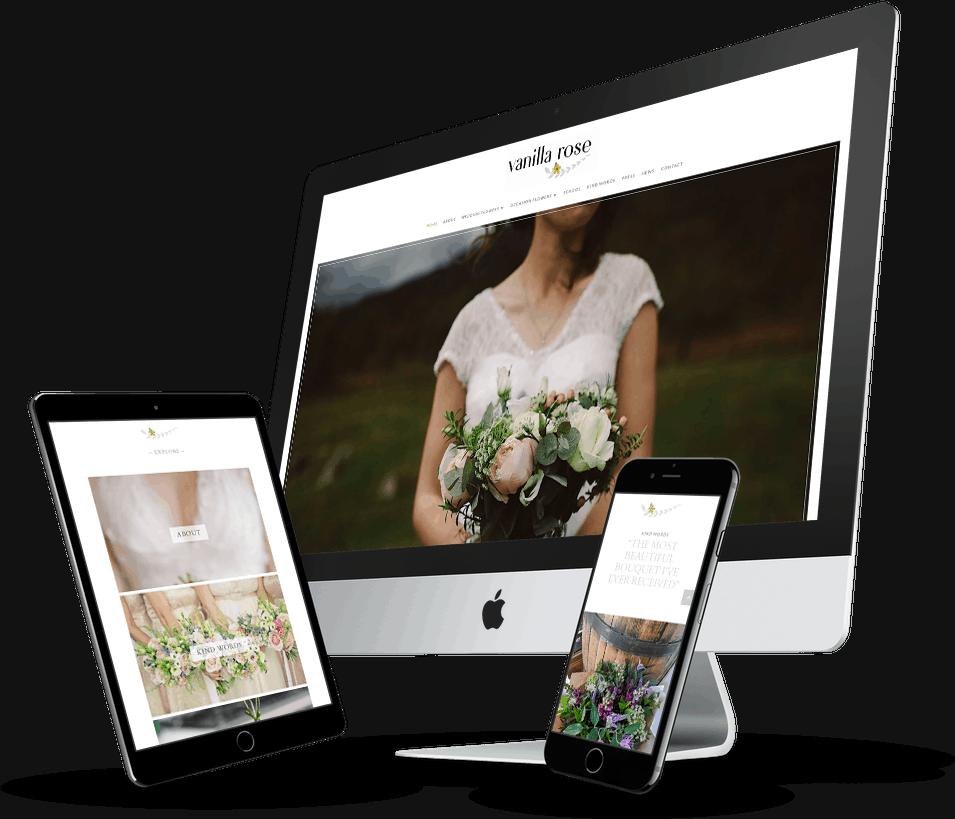 small business website design wedding florist