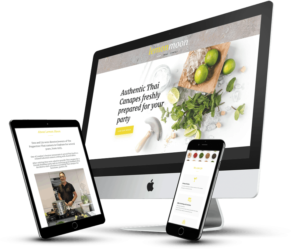 website design for small business caterers